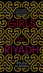 Girls of Riyadh book cover; gold embroidered lights surrounding the title in bright red